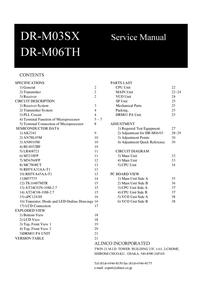 Manual de servicio Alinco DR-M06TH