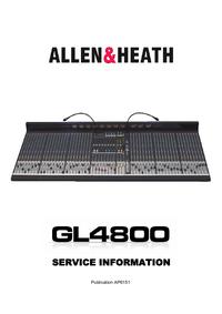 Руководство по техническому обслуживанию Allen GL4800