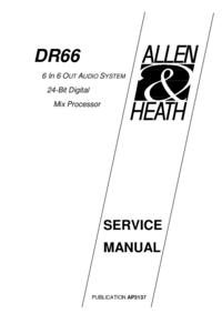 Manual de servicio Allen DR66