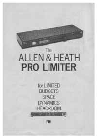 Serwis i User Manual Allen Pro Limiter