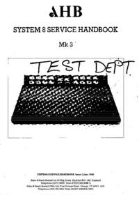 Service Manual Allen System 8 III