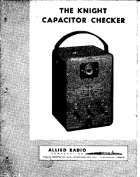 Service and User Manual AlliedRadio Knight Capacitor Checker