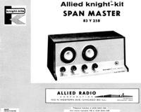 Service and User Manual AlliedRadio Span Master 93 Y 258