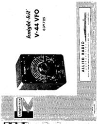 Servicio y Manual del usuario AlliedRadio 83 Y 725