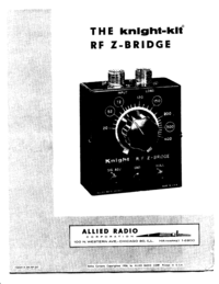 Service and User Manual AlliedRadio Knight RF Z Bridge