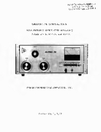 Service and User Manual Alpha Alpha PA-76P