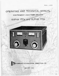 Service and User Manual Alpha ALPHA 77Sx