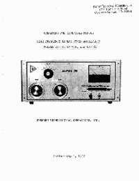 Service and User Manual Alpha PA-76