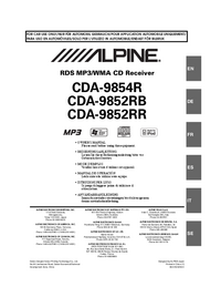 User Manual Alpine CDA-9852RB