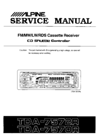 Service Manual Alpine TDA-7572R