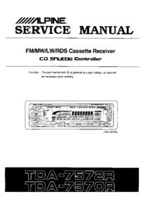 Руководство по техническому обслуживанию Alpine TDA-7570R