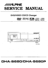 Manual de serviço Alpine DHA-S680P