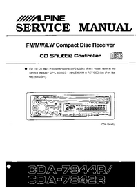 Manual de servicio Alpine CDA-7944R