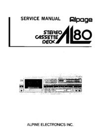 manuel de réparation Alpine AL80