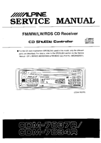 Manual de servicio Alpine CDM7834R
