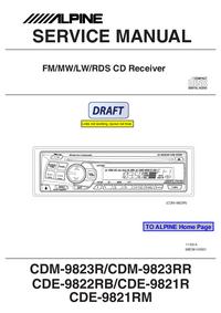 Service Manual Alpine CDE-9822RB