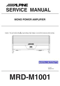 manuel de réparation Alpine MRD-M1001