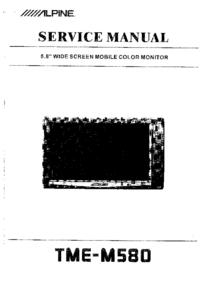 Manuale di servizio Alpine TME-M580