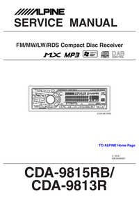 Service Manual Alpine CDA-9813R