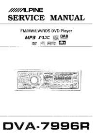 Service Manual Alpine DVA-7996R