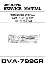 Manual de serviço Alpine DVA-7996R