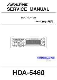 Servicehandboek Alpine HDA-5460