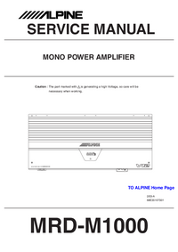 Manual de servicio Alpine MRD-M1000