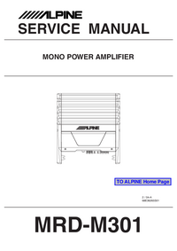 Service Manual Alpine MRD-M301