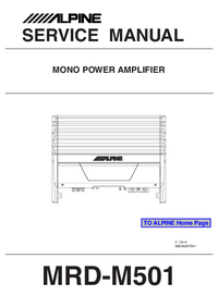 Service Manual Alpine MRD-M501