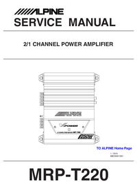 Service Manual Alpine MRP-T220