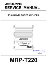 Instrukcja serwisowa Alpine MRP-T220
