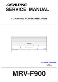 Руководство по техническому обслуживанию Alpine MRV-F900