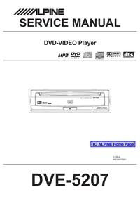 Service Manual Alpine DVE-5207