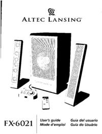 Gebruikershandleiding Altec FX-6021