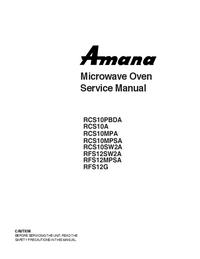 Serviceanleitung Amana RCS10MPSA