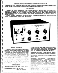 Service and User Manual Ameco TX-62