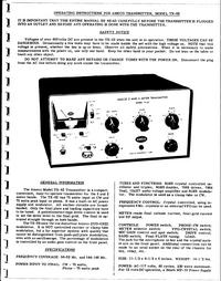 Service-en gebruikershandleiding Ameco TX-62