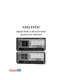 User Manual Ameritec AM2-De