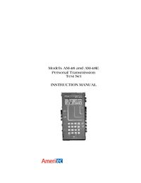 Manual del usuario Ameritec AM-48E