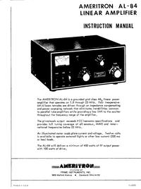 Manuale d'uso Ameritron AL-84