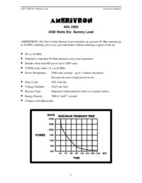 User Manual Ameritron ADL-2500