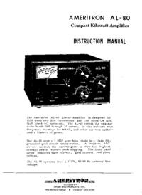 Обслуживание и Руководство пользователя Ameritron AL-80