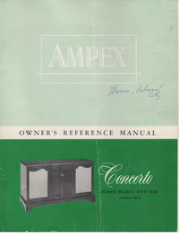 Manual del usuario Ampex Concerto Series 5200