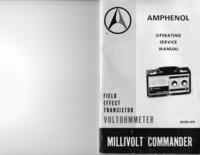 Serviço e Manual do Usuário Amphenol Model 870 Millivolt Commander
