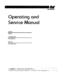 Service and User Manual AmplifierResearch 5S1G4