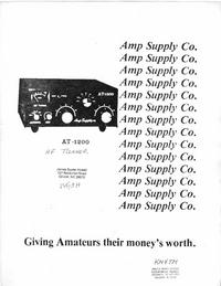 Bedienungsanleitung Ampsuply AT-1200