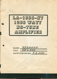 User Manual Ampsuply LA-1000-NT