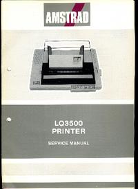 Manual de servicio Amstrad LQ3500
