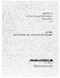 Servizio e manuale utente Analogic AN3100