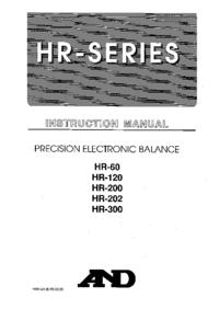 Manuale d'uso And HR-300